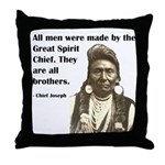 Brotherhood Quote Throw Pillow