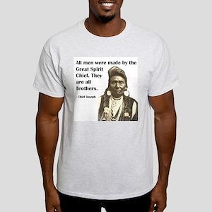 Brotherhood Quote Ash Grey T-Shirt