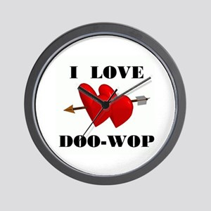 LOVE DOO-WOP Wall Clock