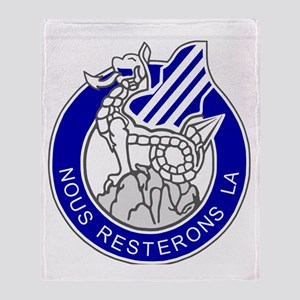 Army3rdInfantryDivisionCrestBonnie.g Throw Blanket