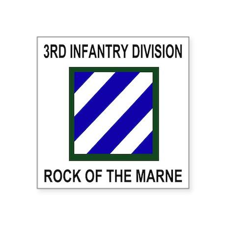 "Army3rdInfantryShirt3.gif Square Sticker 3"" x 3"""