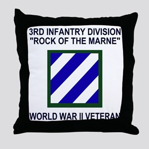 Army3rdInfantryWWIIShirt3 Throw Pillow