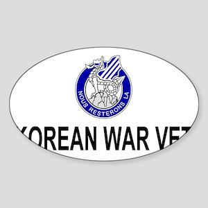 Army3rdInfantryKoreaCap2 Sticker (Oval)