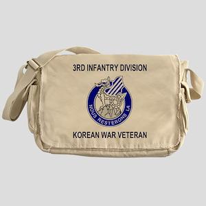 Army3rdInfantryKoreanShirt2 Messenger Bag