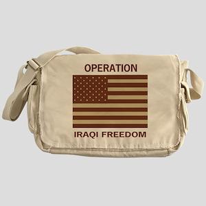 OperationIraqiFreedomTeeshirtDennis4 Messenger Bag