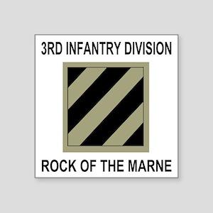 "Army3rdInfantryShirt5 Square Sticker 3"" x 3"""