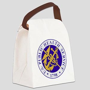 USPHSLogoBlueOuterRing Canvas Lunch Bag