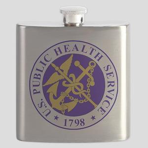 USPHSLogoBlueOuterRing Flask