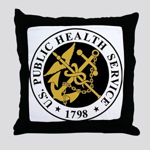 USPHS-BlackJersey Throw Pillow