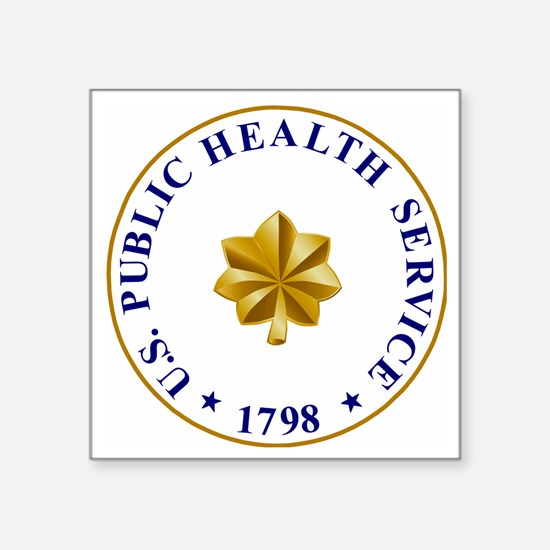 """USPHS-LCDR2.gif Square Sticker 3"""" x 3"""""""