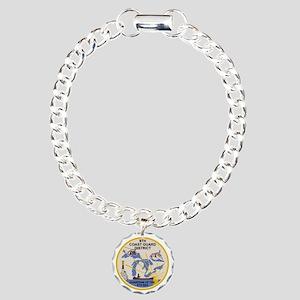 USCGPatchCGD9BonnieX Charm Bracelet, One Charm