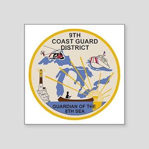 "USCGPatchCGD9BonnieX Square Sticker 3"" x 3"""