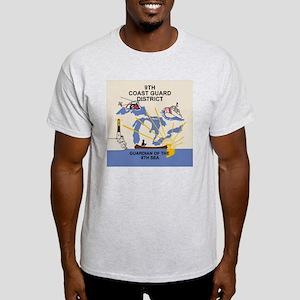 USCGPatchCGD9Tile Light T-Shirt