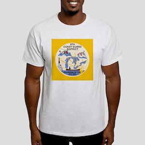 USCGPatchCGD9Button Light T-Shirt