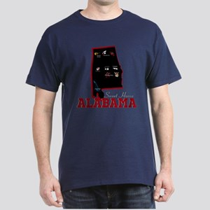 Alabama Map Dark T-Shirt