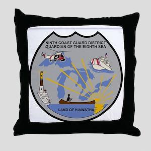 USCGPatchCGD9Bonnie2B Throw Pillow