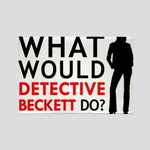"""What Would Detective Beckett Do?"" Rectangle Magne"