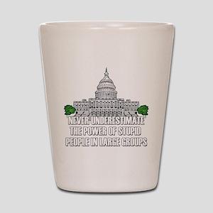 Stupid People In Washington DC Shot Glass