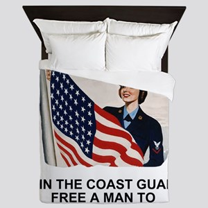 USCG-Free-A-Man Queen Duvet