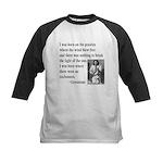 Geronimo Quote Kids Baseball Jersey