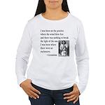 Geronimo Quote Women's Long Sleeve T-Shirt