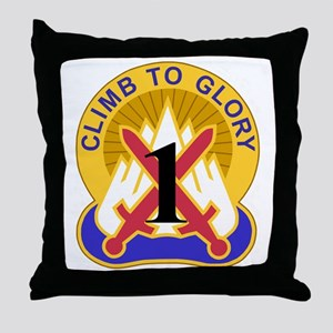Army-10th-Mountain-Div-1st-Brigade.gi Throw Pillow