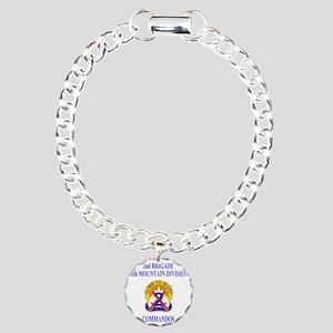 Army-10th-Mountain-Div-2 Charm Bracelet, One Charm