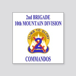 """Army-10th-Mountain-Div-2nd- Square Sticker 3"""" x 3"""""""