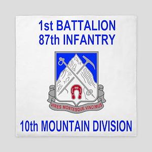 Army-87th-Infantry-Reg-Shirt-1 Queen Duvet