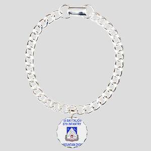 Army-87th-Infantry-Reg-S Charm Bracelet, One Charm
