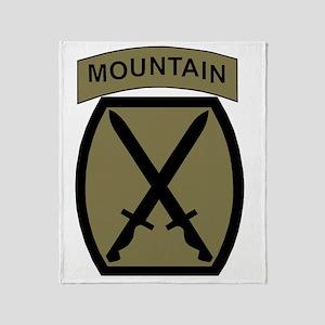 Army-10th-Mountain-Div-Woodland Throw Blanket