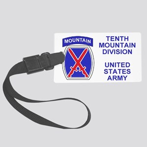 Army-10th-Mountain-Div-Sticker.g Large Luggage Tag