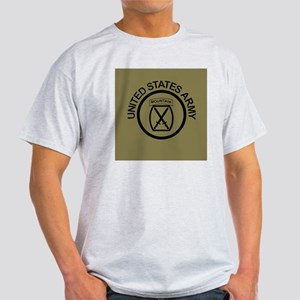 Army-10th-Mountain-Div-Button-Olive. Light T-Shirt