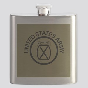 Army-10th-Mountain-Div-Button-Olive Flask