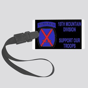 Army-10th-Mountain-Div-Sticker-S Large Luggage Tag