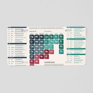 SEL Periodic Table Aluminum License Plate