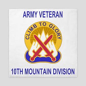 Army-10th-Mountain-Div-Veteran-Shirt.g Queen Duvet