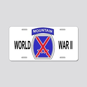 Army-10th-Mountain-Div-WWII Aluminum License Plate