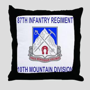 Army-87th-Infantry-Reg-Shirt Throw Pillow