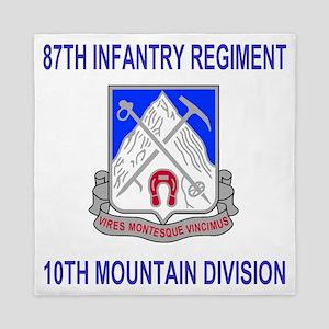 Army-87th-Infantry-Reg-Shirt Queen Duvet