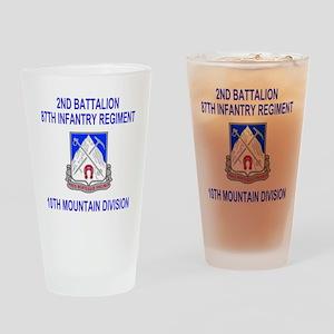 Army-87th-Infantry-Reg-Shirt-2 Drinking Glass