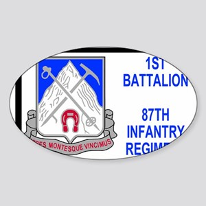 Army-87th-Infantry-Reg-Sticker-1st- Sticker (Oval)