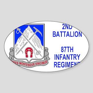 Army-87th-Infantry-Reg-Sticker-2nd- Sticker (Oval)