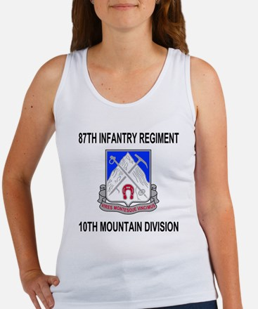 Army-87th-Infantry-Reg-Shirt-Blac Women's Tank Top