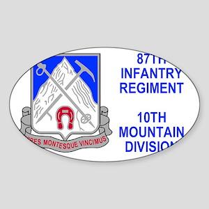 Army-87th-Infantry-Reg-Sticker Sticker (Oval)