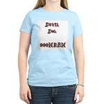 Devil Dog OOOHRAH Women's Pink T-Shirt