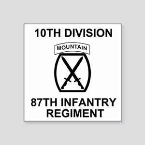 "Army-87th-Infantry-Reg-Shir Square Sticker 3"" x 3"""