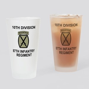 Army-87th-Infantry-Reg-Shirt-Olive. Drinking Glass