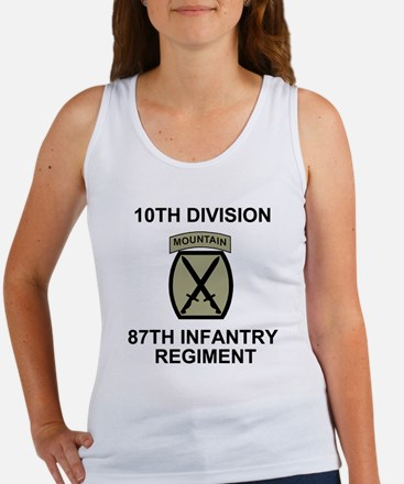 Army-87th-Infantry-Reg-Shirt-Oliv Women's Tank Top