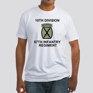 Army-87th-Infantry-Reg-Shirt-Olive. Fitted T-Shirt